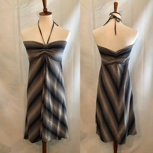 Patagonia Black and White Striped Strapless Dress